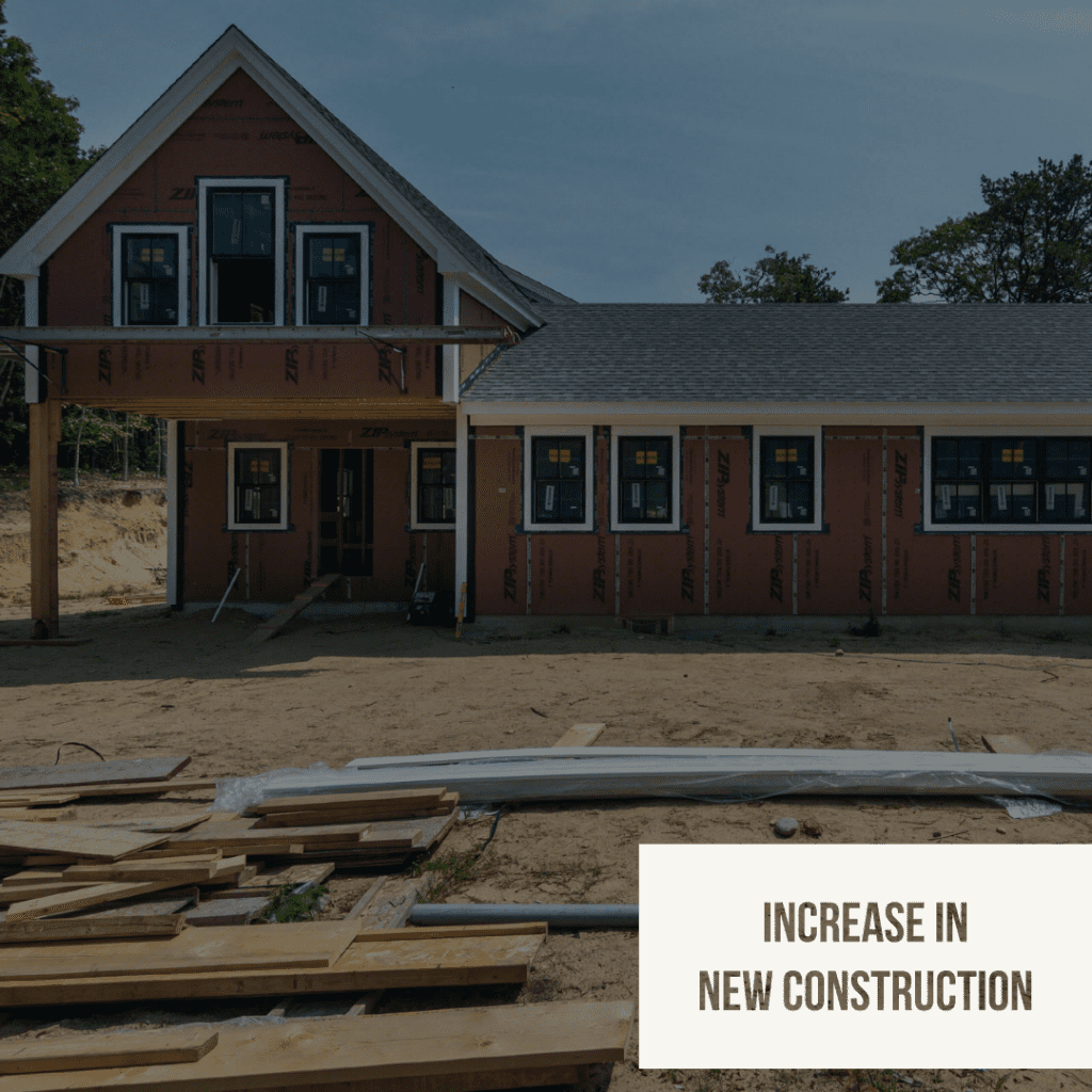 Five Factors That Reveal Where The Real Estate Market Is Headed - Construction Of Single-Family Homes Sees Slight Uptick Martha's Vineyard Exclusive Listing 41 Jernegan Pond Road Edgartown  Real Estate  Realtor Point B Realty For sale