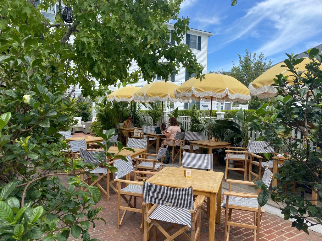 This Summer's Chicest Edgartown Dining Spot Is The Pelican Club Outdoor dining Pelican Club Kelley House Visit Edgartown Edgartown Martha's Vineyard Where to eat on Martha's Vineyard  Point B Realty
