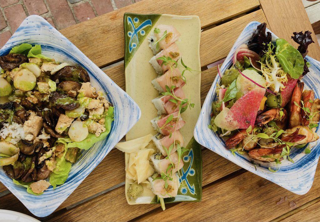 This Summer's Chicest Edgartown Dining Spot Is The Pelican ClubvSushi tofu shrimp  Kelley House Visit Edgartown Edgartown Martha's Vineyard Where to eat on Martha's Vineyard  Point B Realty