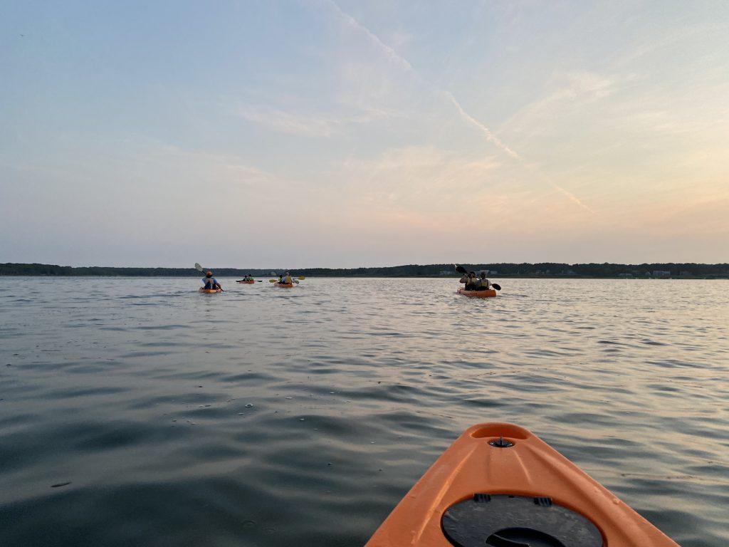 Glow Kayak Before the Sunset On the Water  Island Spirit Kayak Martha's Vineyard Visit Martha's Vineyard