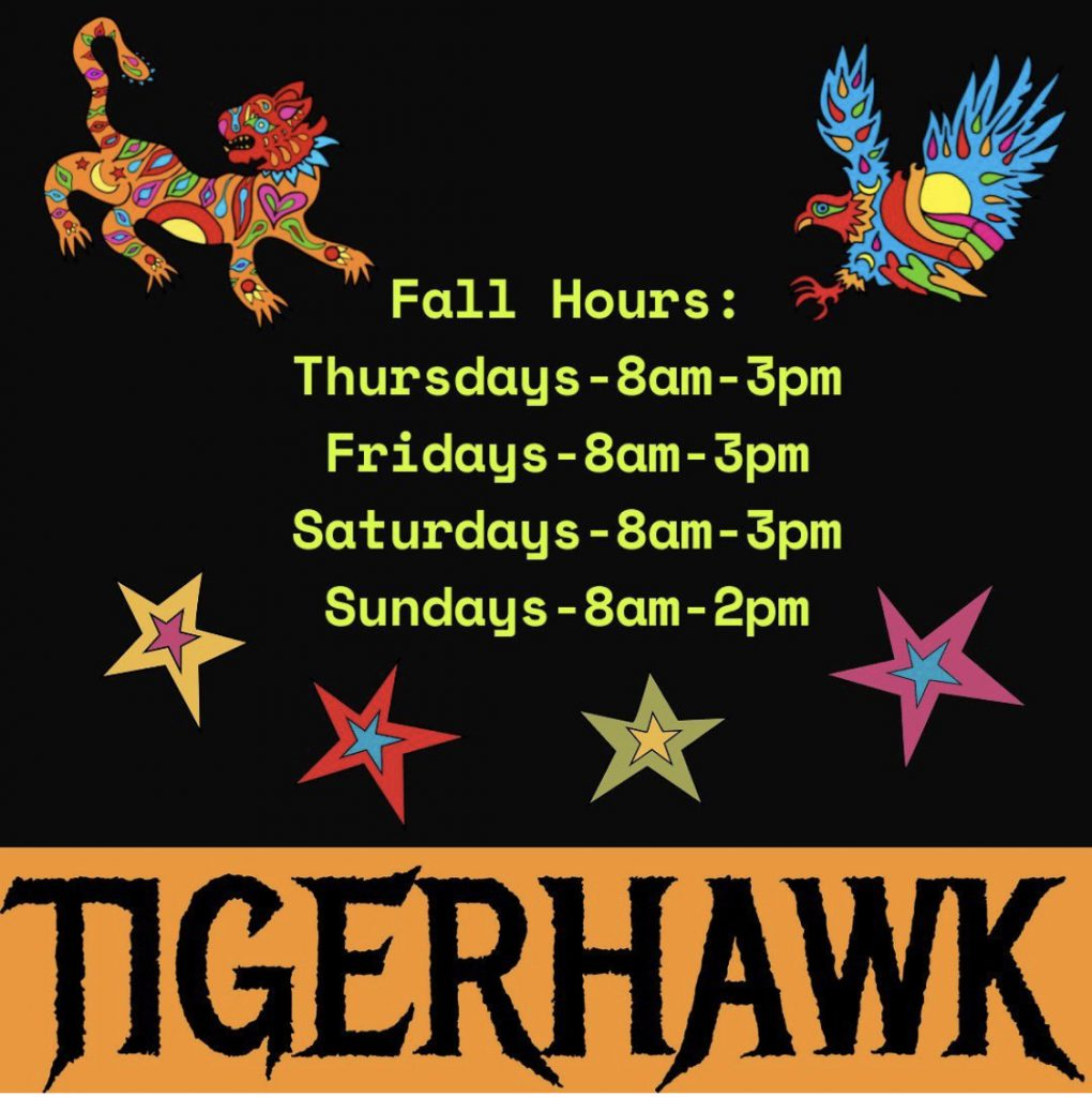 Tigerhawk Sandwich Co. Oak Bluffs Fall hours Martha's Vineyard  Chef owned Jimmy Alvarado Nathaniel Wade