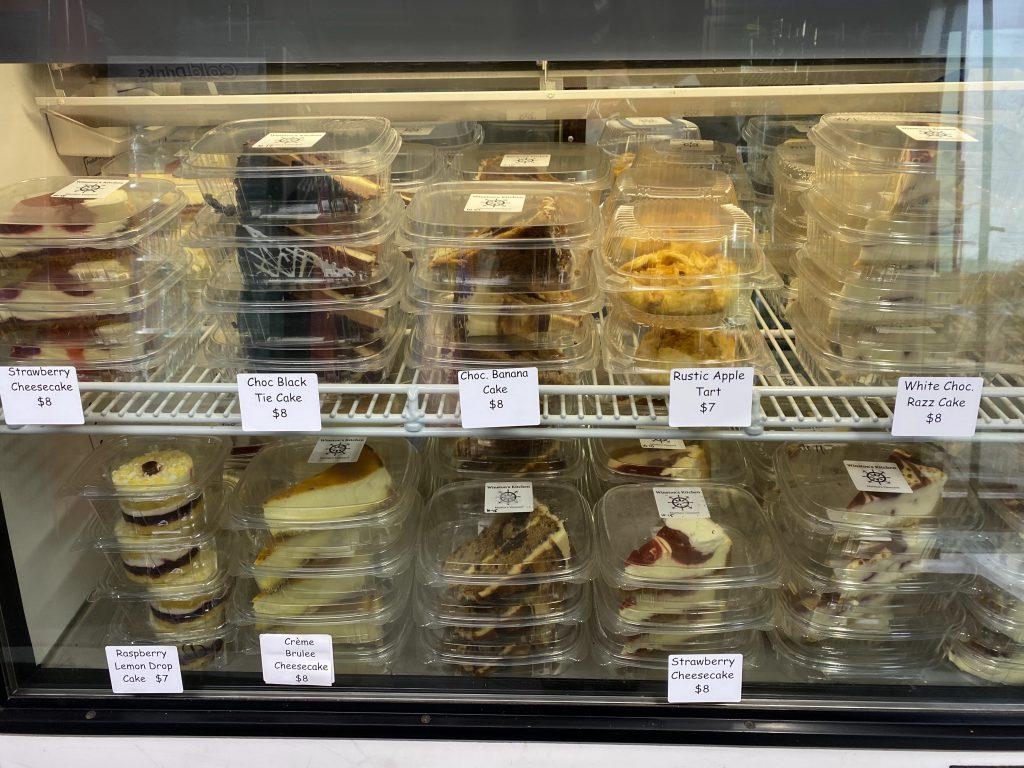 Dessert Case Sweet Treats Winstons Kitchen Oak Bluffs  Eat Local Year Round restaurant  Takeaway  New for 2021