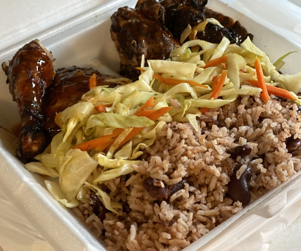 Jerk Chicken Caribbean inspiration Winstons Kitchen Oak Bluffs  Eat Local Year Round restaurant  Takeaway  New for 2021 family owned